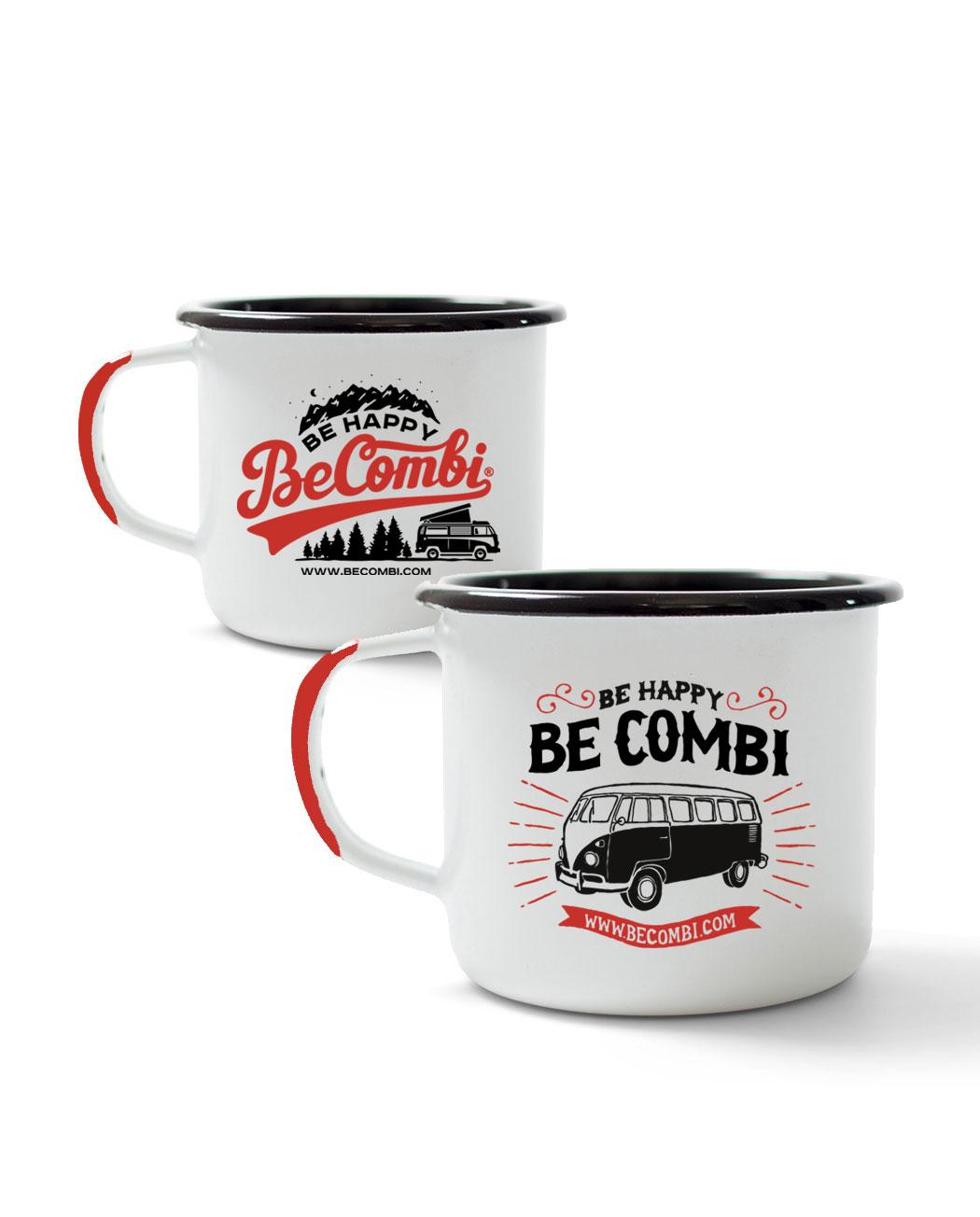 tasses maill es bicolores x2 becombi shop. Black Bedroom Furniture Sets. Home Design Ideas