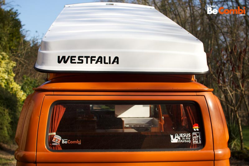 Sticker Westfalia - arrière de la réhausse