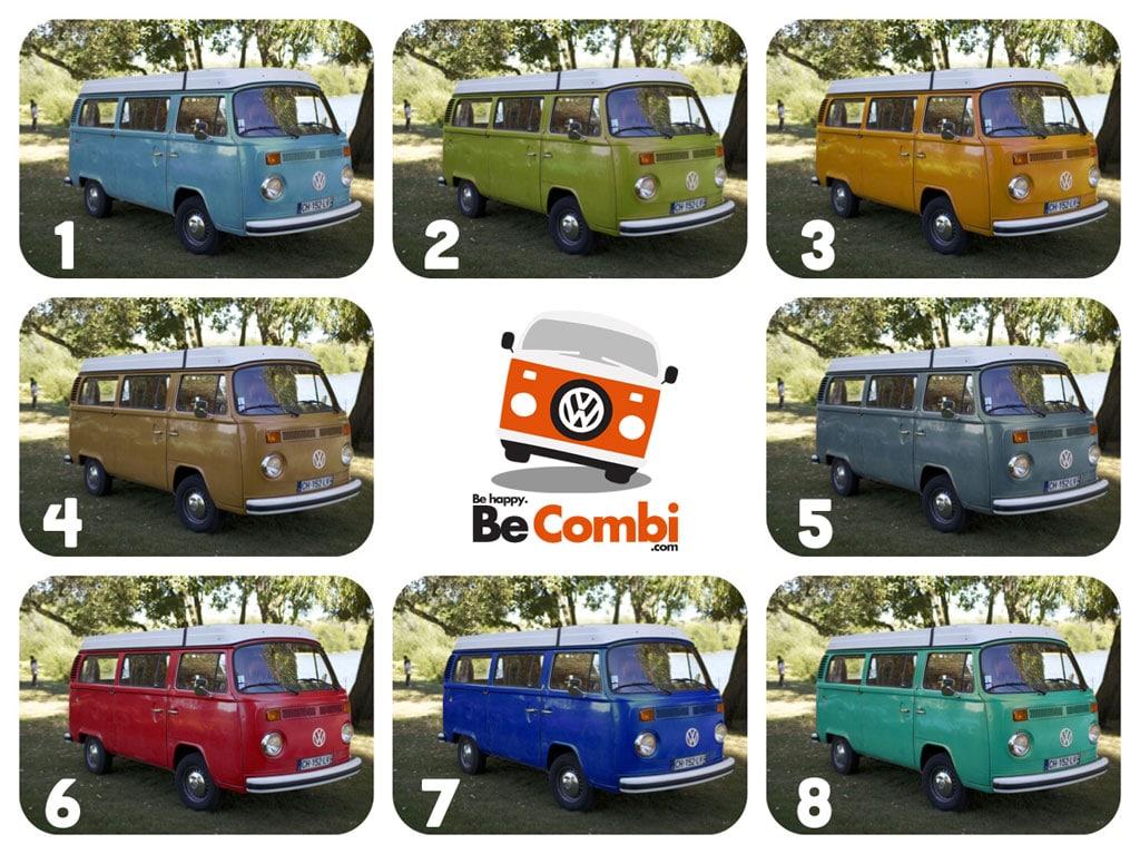 essais de couleurs pour le vw combi be combi. Black Bedroom Furniture Sets. Home Design Ideas