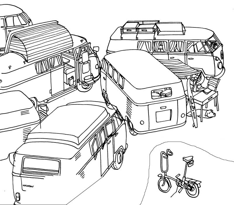 Esquisse Affiche First Bay Camper par Florend