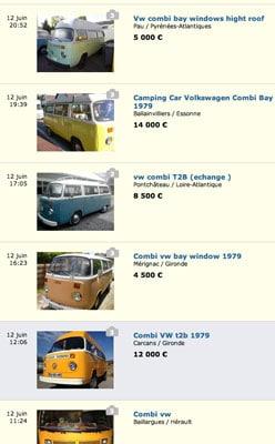 Annonces VW Combi