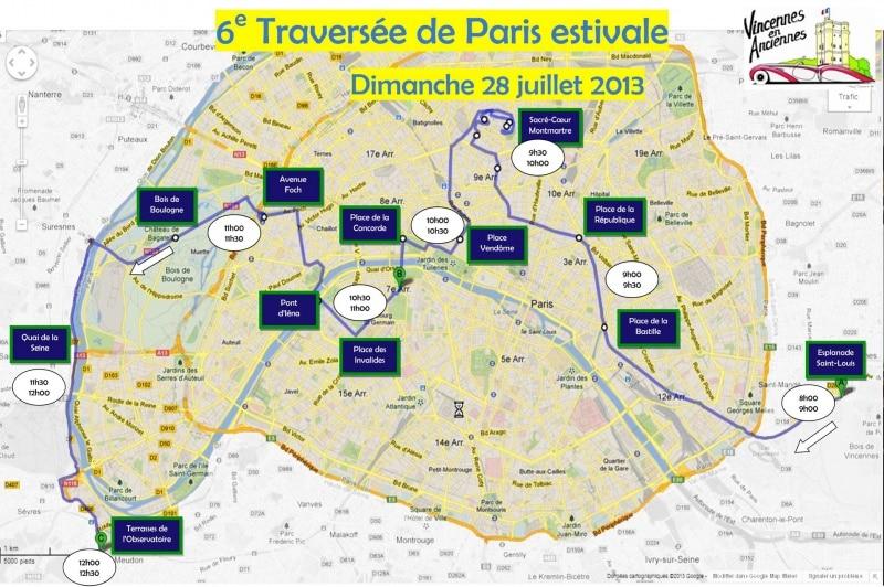 Parcours Traversée de Paris estivale