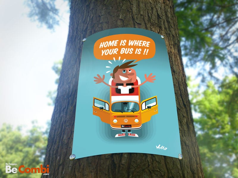 Affiche Home is where your bus is | BeCombi