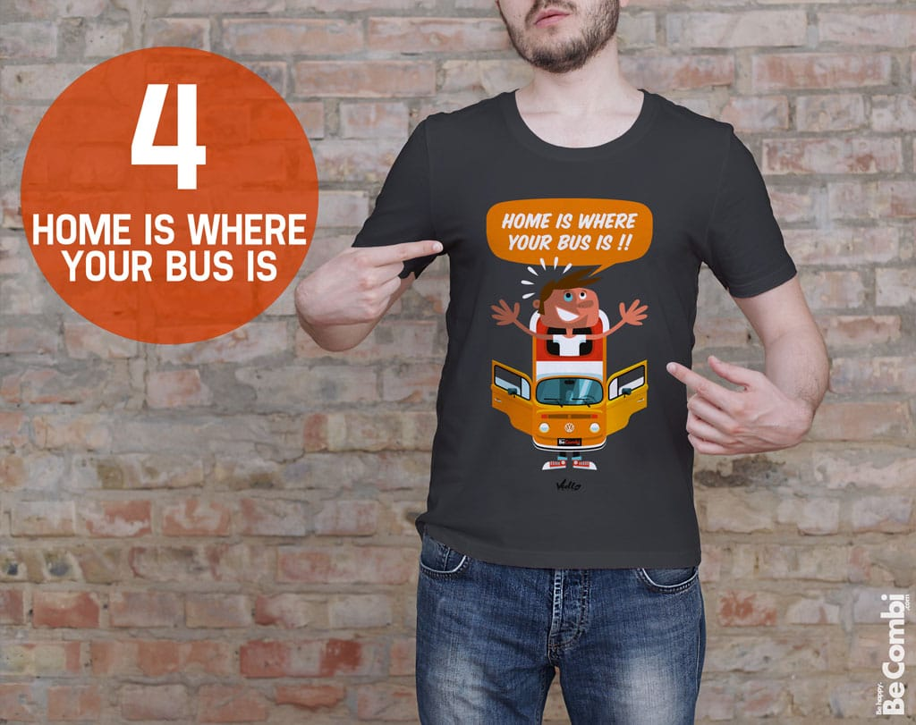 T-shirt BeCombi n°4 - Home is where
