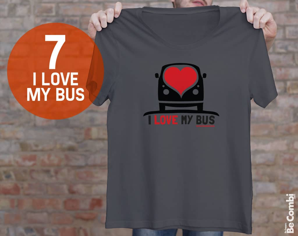 T-shirt BeCombi n°7 - I love my bus