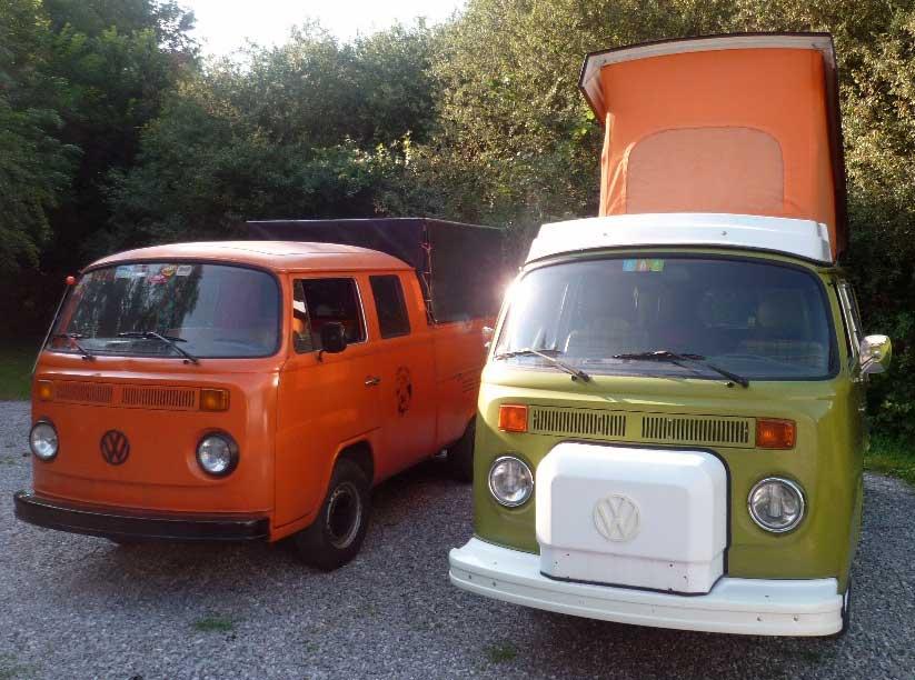 Le VW Camper et le Pick-up d'Etienne et Véronique