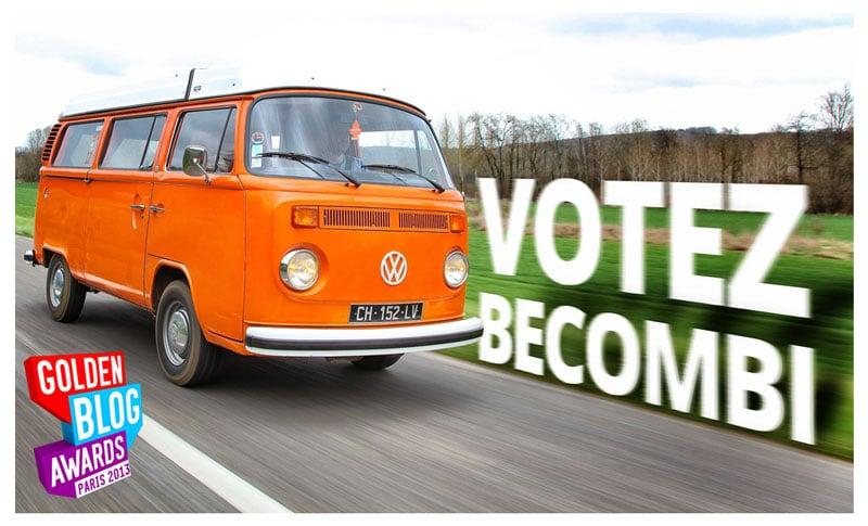 Votez BeCombi aux Golden Blog Awards 2013