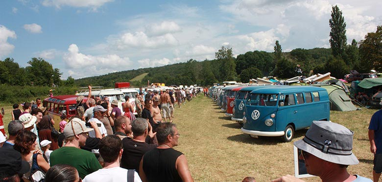 The French VW Bus Meeting 2014 à Fley