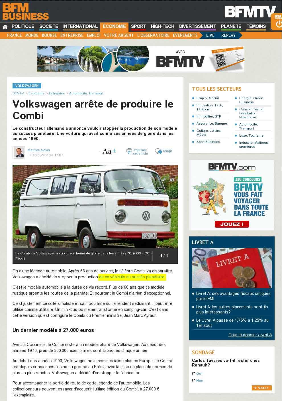 BFM TV - Be Combi