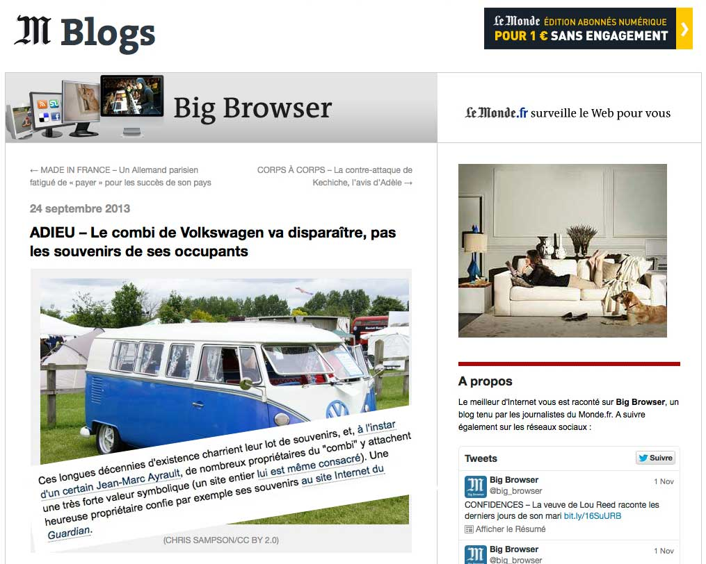 Big Browser - Le Monde - Be Combi