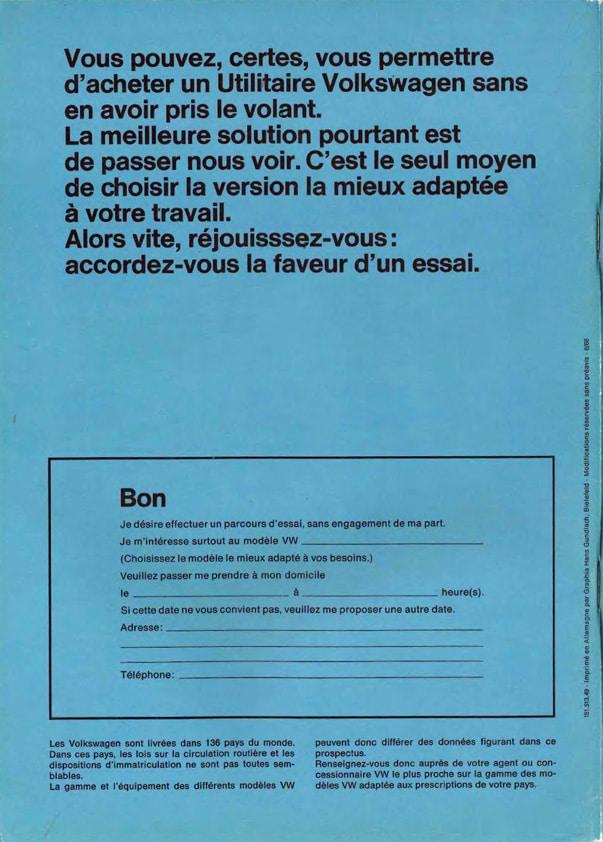 Voici le nouveau - Documentation T2a 1968