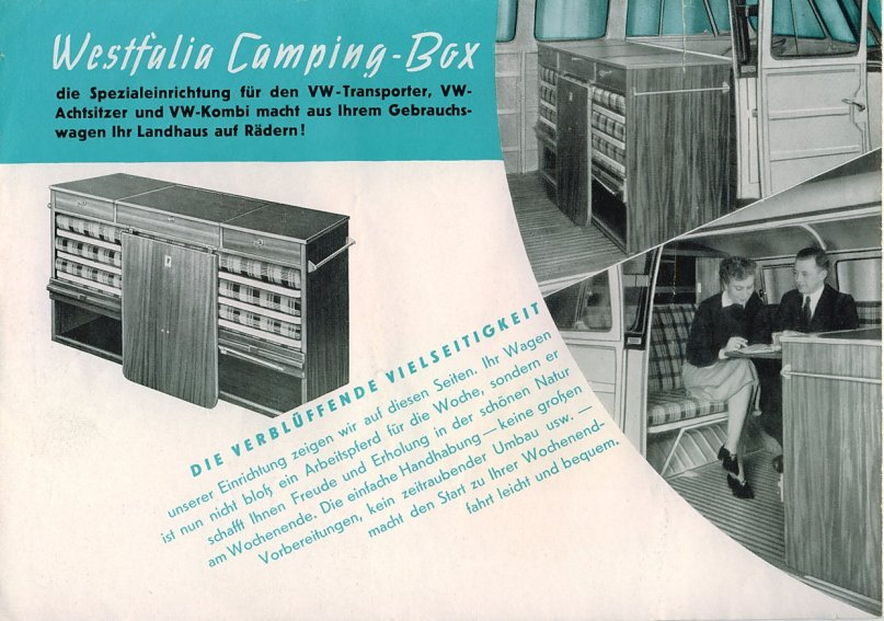 Brochure Westfalia Camping Box 1954 | Be Combi