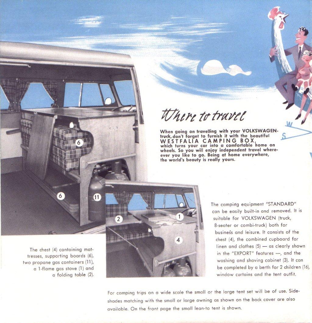 Brochure Westfalia Camping Box 1955 | Be Combi