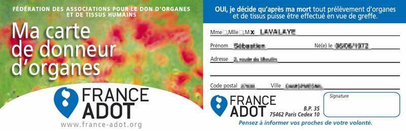 Carte de donneur - France-Adot.org