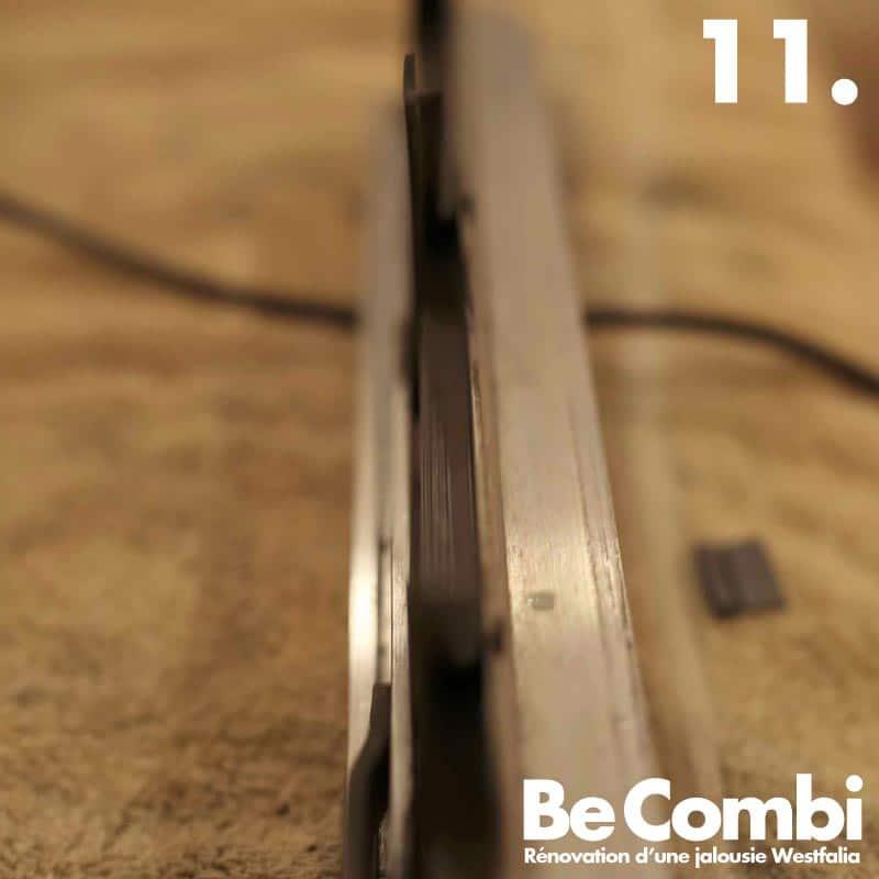 Rénovation d'une jalousie de Westfalia en étapes | Be Combi