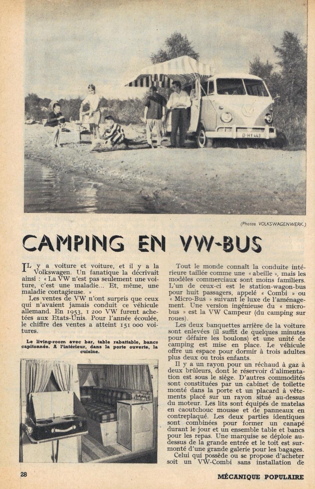 Volkswagen et le camping | BeCombi