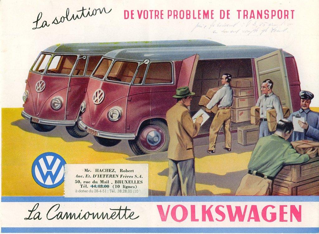 La camionnette Volkswagen | BeCombi