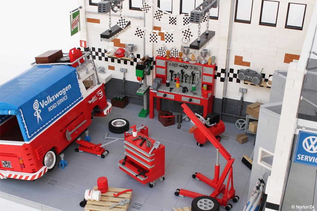 VW Combi Pick up en Lego | BeCombi