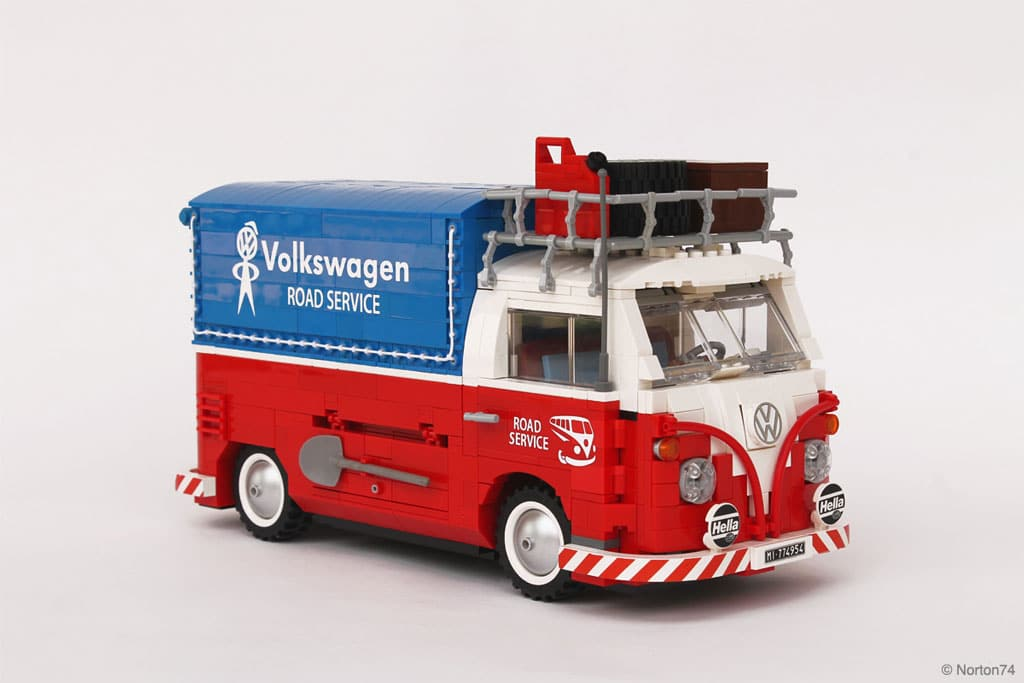 VW Combi Pick up Road Service en Lego | BeCombi