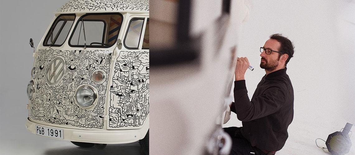 4 VW Splits décorés par des artistes | Be Combi