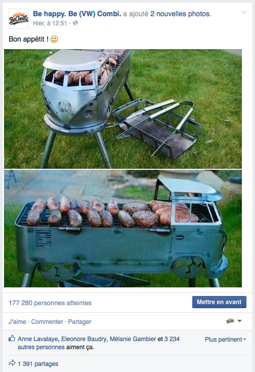 Post Facebook sur Busbecue | BeCombi