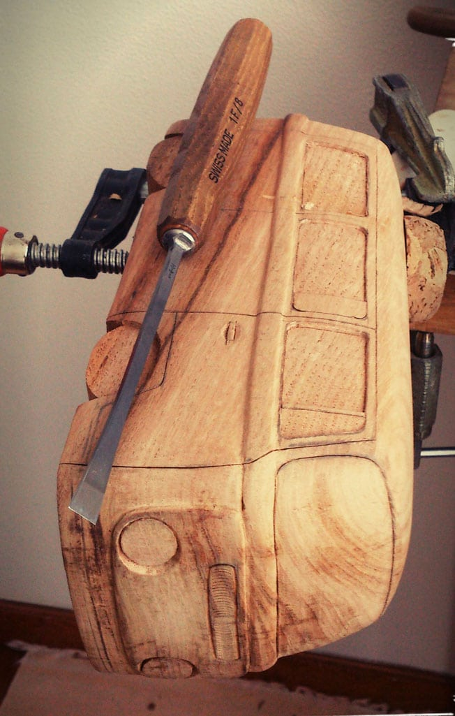 Les Combi en bois sculpté de Volkswood   BeCombi