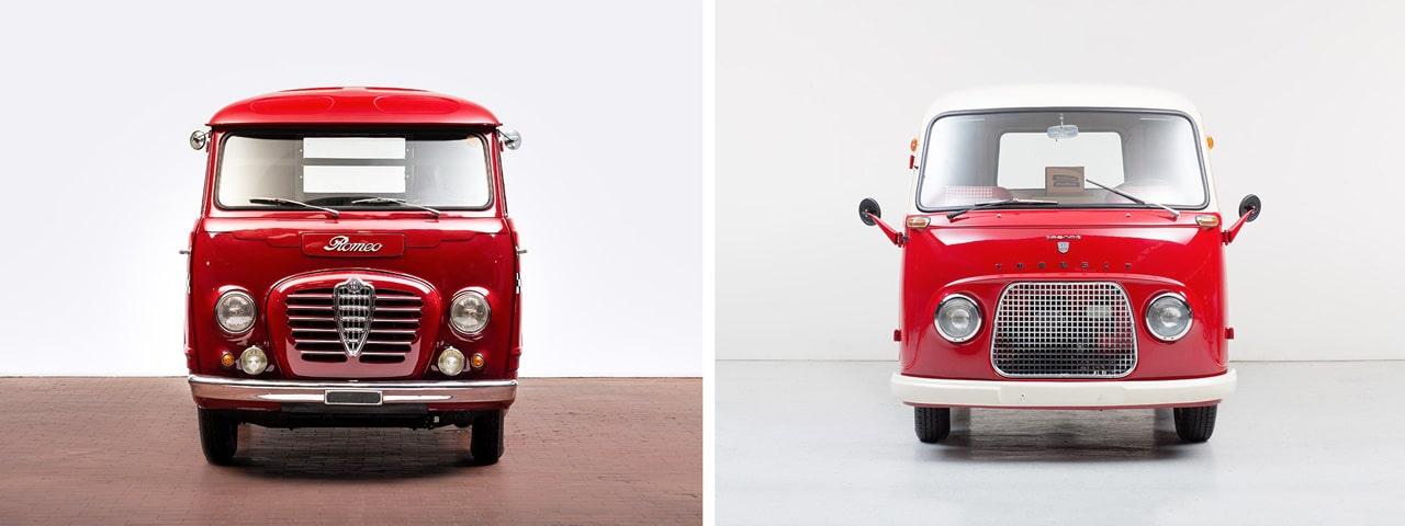 Alfa Romeo T10 et Ford Taunus Transit