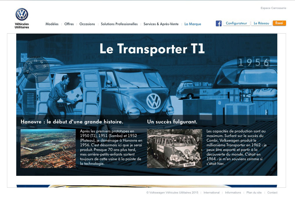 Histoire du Transporter par Volkswagen Utilitaires