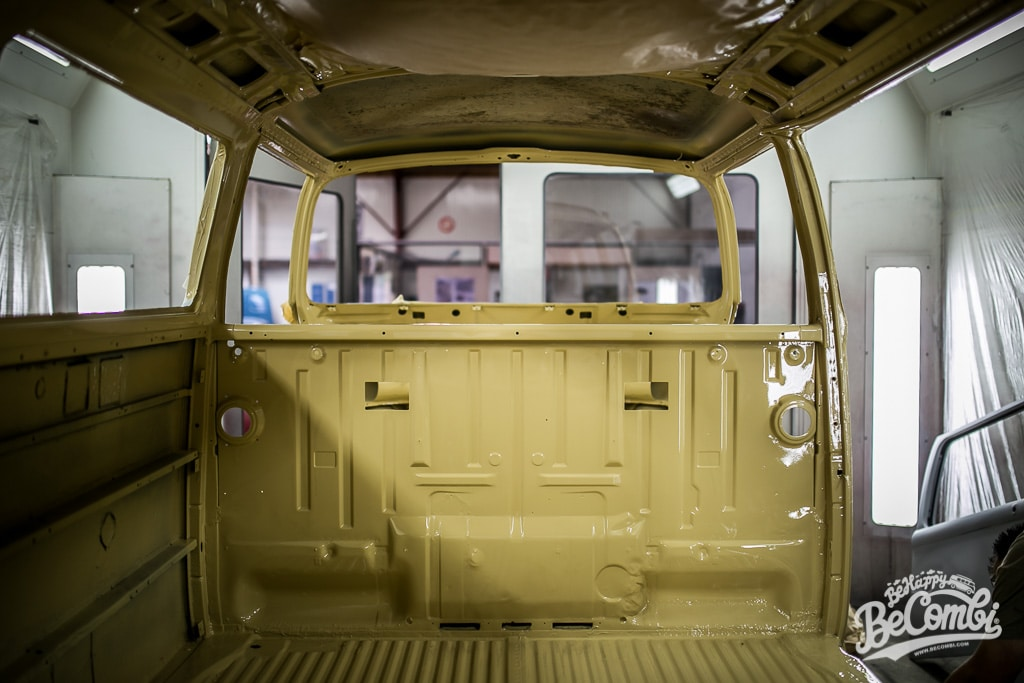 Baudouin Combi VW entre en peinture | BeCombi