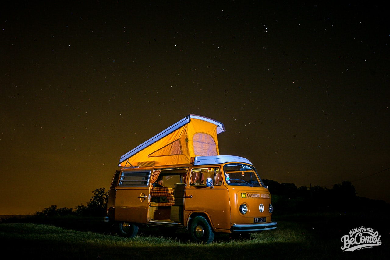 Essai de photo de nuit du VW Combi | BeCombi