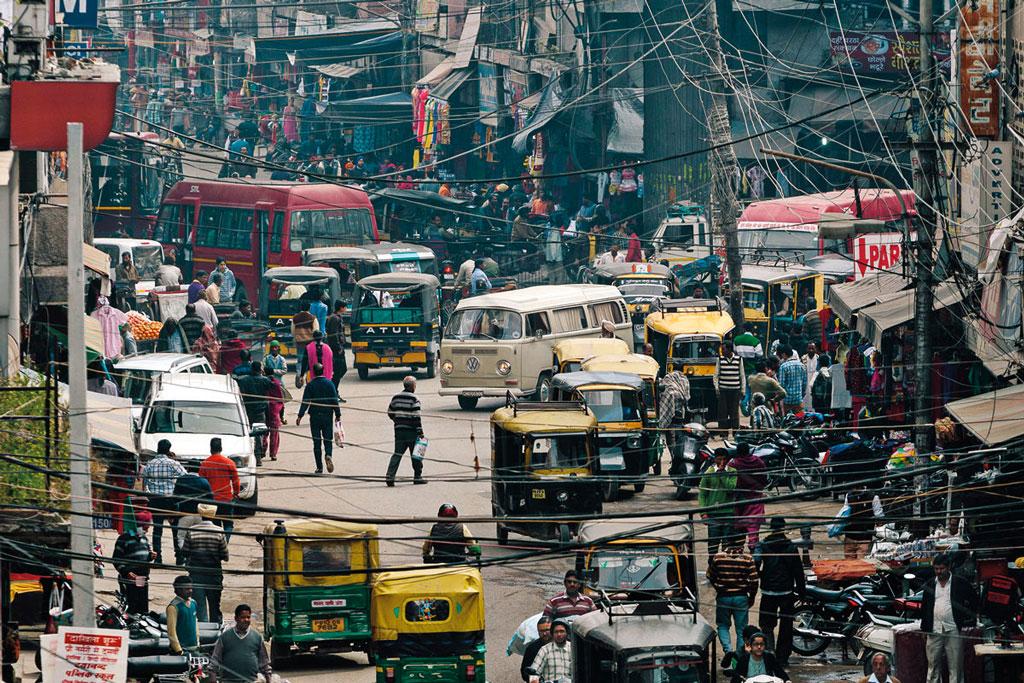 Le superbe T2a 1969 d'Inderpal dans les rues de Ludhiana (Inde)