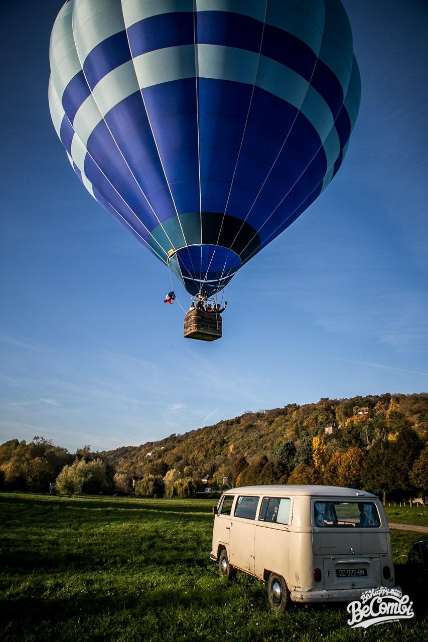 Happy VW Combi et montgolfière du Vexin | BeCombi