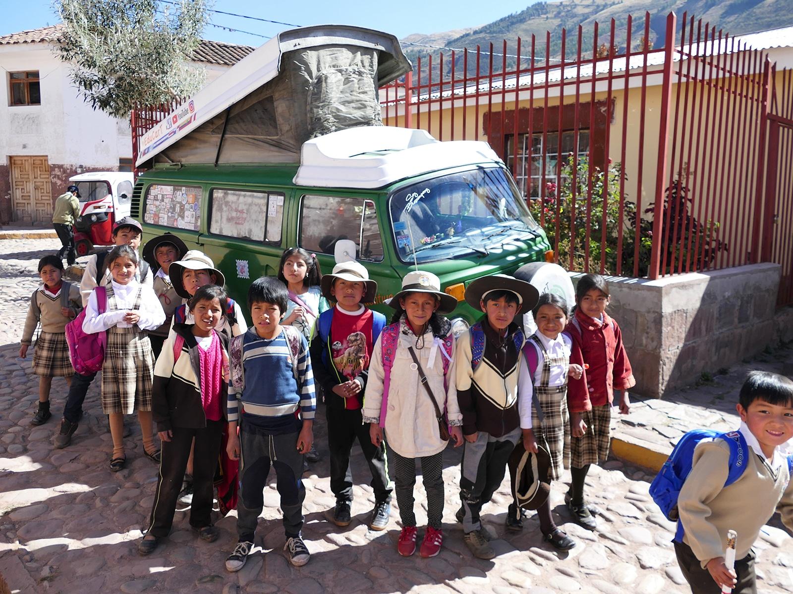Avec Daniel et sa famille 5 à dormir dans le Combi au Mexique