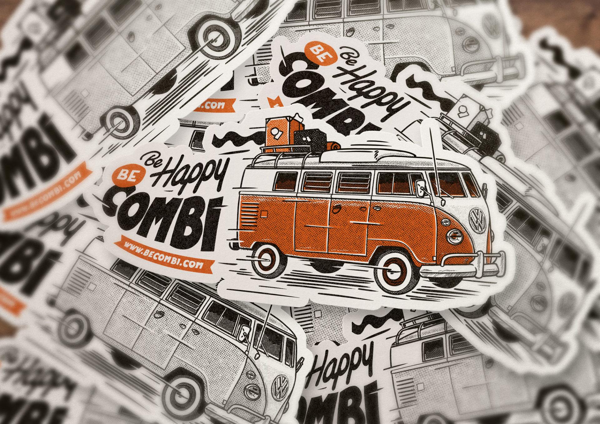 Stickers BeCombi new logo 2020
