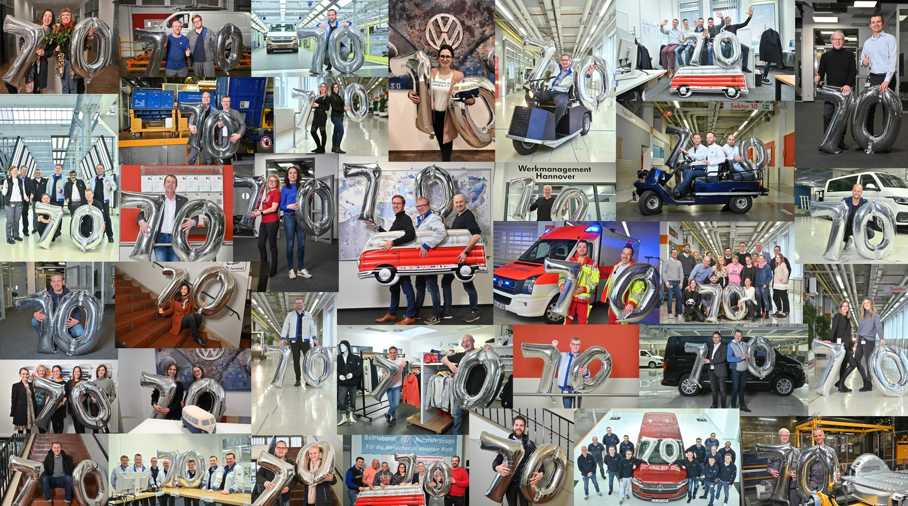 Joyeux anniversaire au Volkswagen Transporter ou Bulli !