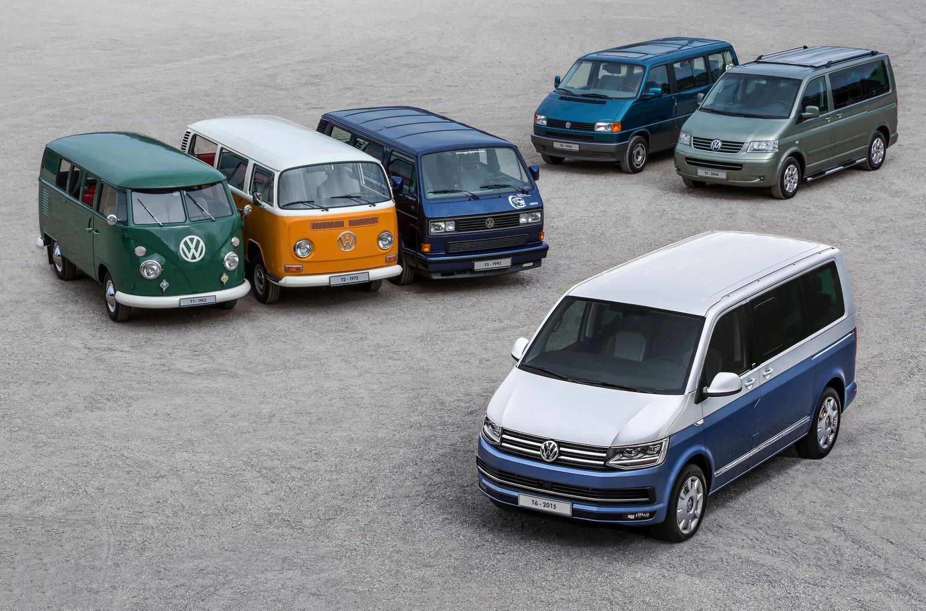 Les 6 générations de VW Combi
