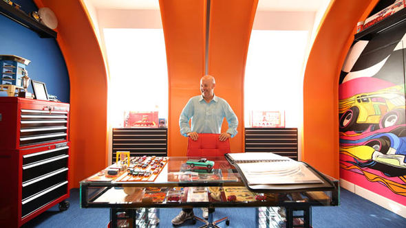 Bruce Pascal et sa collection.