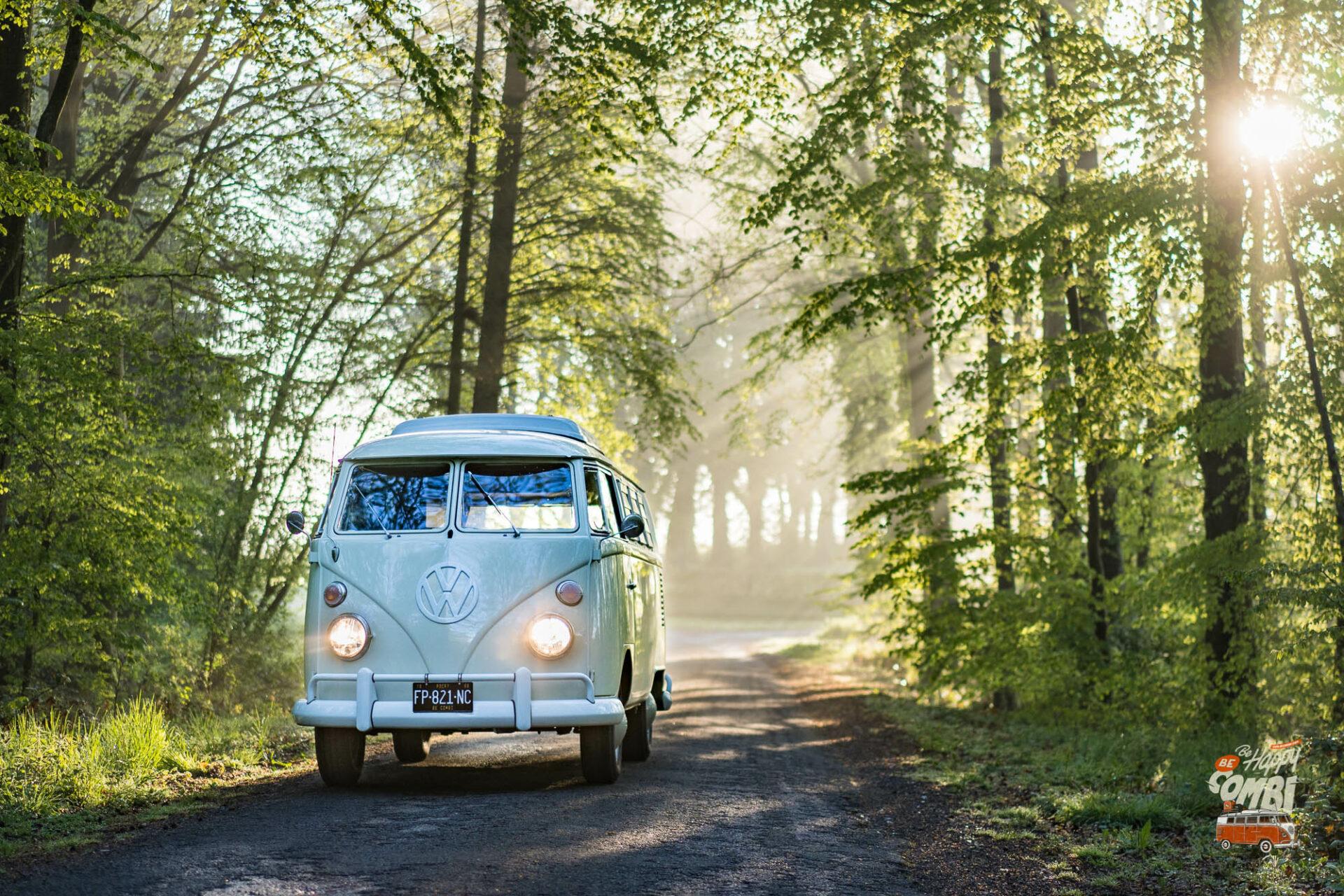 Sortie matinale avec Rocky - VW Camper 1966 - BeCombi